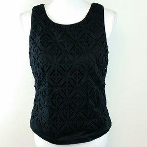 White House Black Market sleeveless top black top